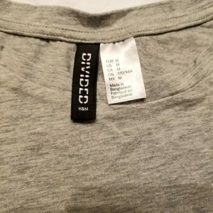 """Divided Tops - [Divided by H&M] Gray Cap-Sleeve """"GRL PWR"""" Tee"""